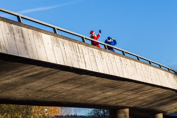 Santa selfies on Churchill Way