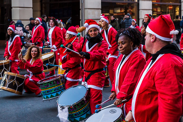 Katumba Bloco in Santa suits