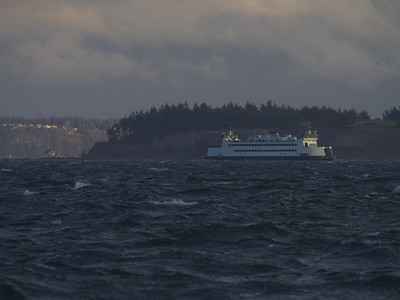 Port Townsend - Coupeville Ferry passing Marrowstone Island