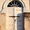 """""""thou shalt not steal""""  seals the doors of this old church in St Josephs SK"""