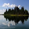 Reflections,  Island in Madge Lake SK, Duck Mountain Provincial Park