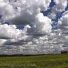 Clouds over the old school, Kamsack Saskatchewan Canada