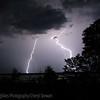 Lightning over Madge Lake, SK