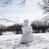 Snowman in Wascana Park, Regina