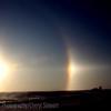 Sundogs on a cold Saskatchewan morning