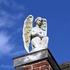 """Evangeline ?  I was told by the building owner this angel didn't yet have a name.  I think she could be Evangeline, a name whose origins come from """"eu"""" - good, and """"angela"""" - news.  May she watch over you and bring you lots of good news."""