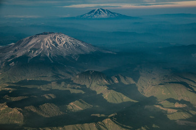 Mt Rainier and Mt St Helens