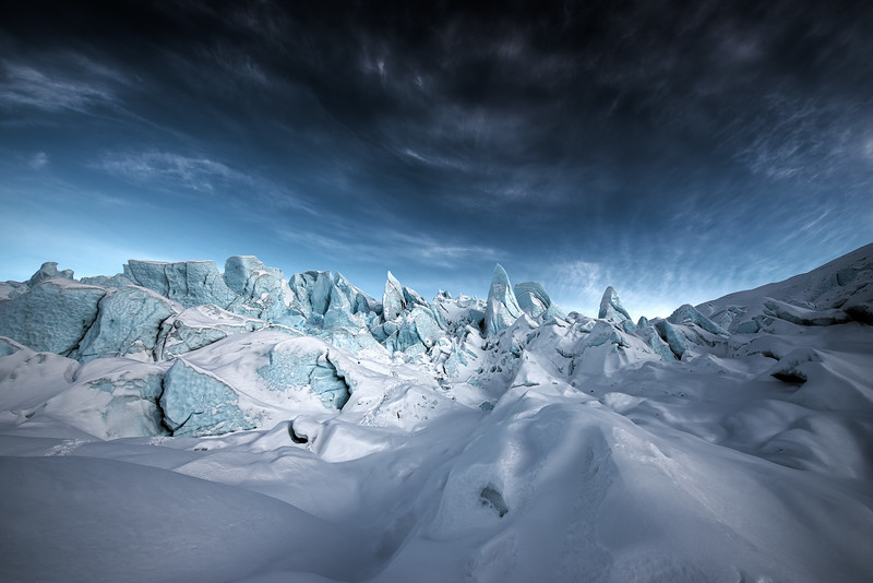 Alpine Glow on the Seracs