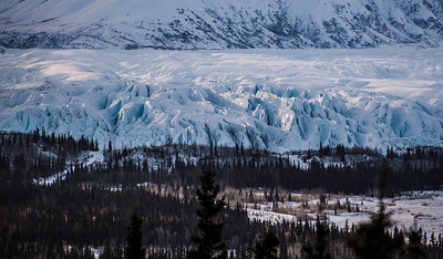 Sunrise on Matanuska Glacier