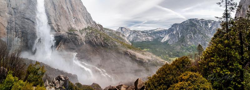 At the base of Upper Yosemite Falls