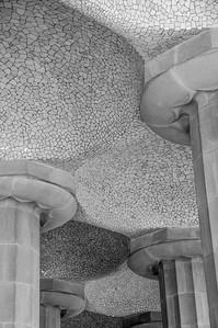 Gaudi's Trencadis Technique, Parc Guell, Barcelona