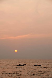 Fishermen at Dusk - Baindur, India