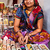 Bangles vendor, Chitra Kala Parishat, Bangalore.