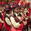 Students performing for the Golden Jubilee celebrations of the RV Girls' High School, Jayanagar, Bangalore.