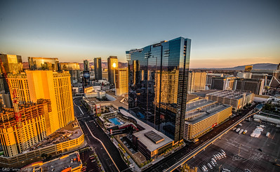 Reflected Sunrise over Las Vegas