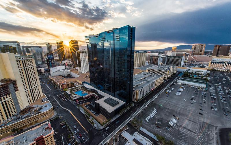 Sunset over Las Vegas