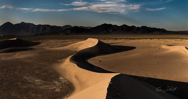 Night lights on the dunes