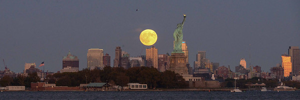 Moonrise over Liberty