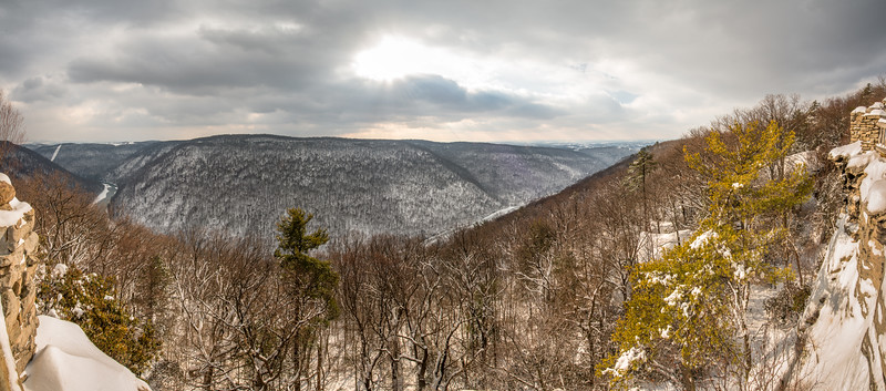 Coopers Rock Winter Panorama