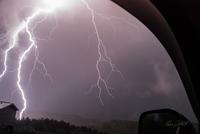 Capturing Lighting from my truck window on a hill top in West Virginia