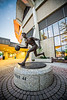 "Many generations of Morgantown residents are already familiar with Jamie's work. With each visit to the WVU Coliseum, they see Jerry West making his fast break to the basketball hoop. <a href=""http://www.morgantownmag.com/morgantown/October-November-2012/Breaking-the-Mold/"">http://www.morgantownmag.com/morgantown/October-November-2012/Breaking-the-Mold/</a>"