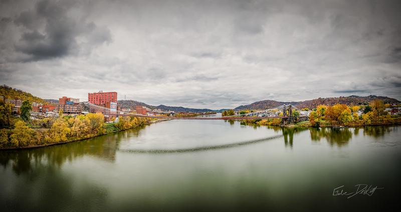 The Wheeling Suspension Bridge_WV_Panorama_by Gabe DeWitt-3