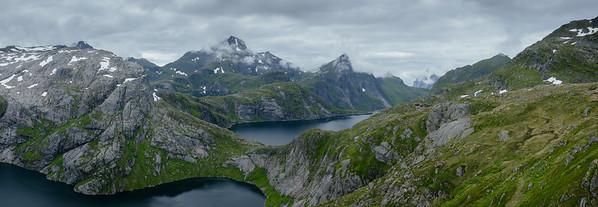 Hike towards the Munkebu Hut, Lofoten Islands. Norway 2015.