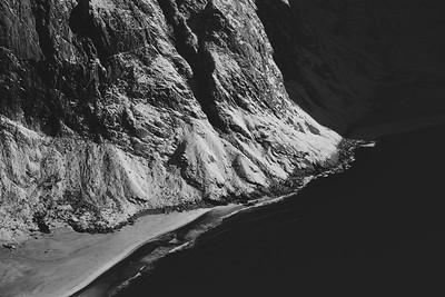 Detail from above, Kvalvika beach. Lofoten Island, Norway 2015.