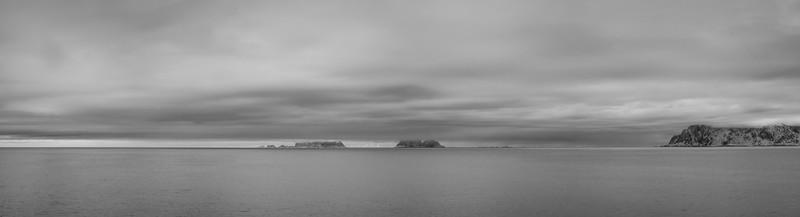 Approaching the Lofoten Islands. Ferry from Bodø to Moskenes. Norway 2015.