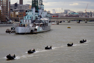 Military exercise by HMS Belfast