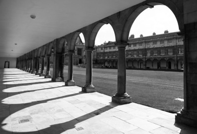 Trinity College corridor, Cambridge