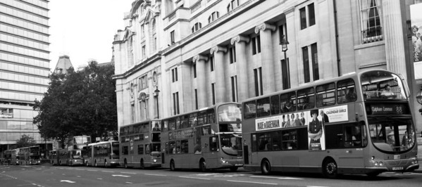 Double decker buses, London