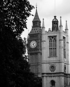 Tree, Big Ben and St. Margaret's chapel