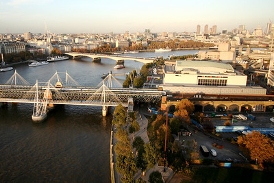 Hungerford and Waterloo Bridges, River Thames