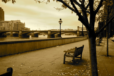 Thames Embankment by Blackfriars Bridge