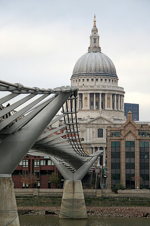 St. Paul's Cathedral across Millennium Bridge