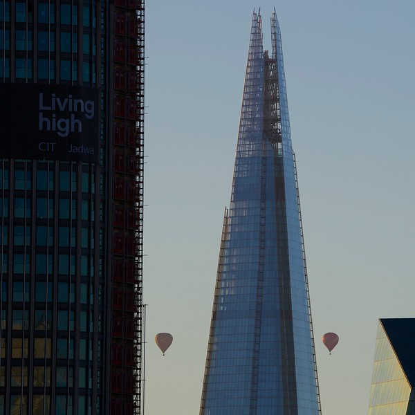 Dawn Flight: 50 hot air balloons flew over the City of London at sunrise on Sunday June 7 2015. The Lord Mayor's Appeal Balloon Regatta launched from Shoreditch north of the Thames and flew south across the City to raise awareness and funds for the appeal. Each balloon stood almost one hundred feet tall and sailed across the City in perfect weather. 2015 also sees the 50th anniversary of the British Balloon and Airship Club. The last mass ascent balloon flight over London was over 20 years ago.