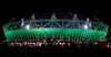 London Olympic Stadium By Night. (Wide shot)