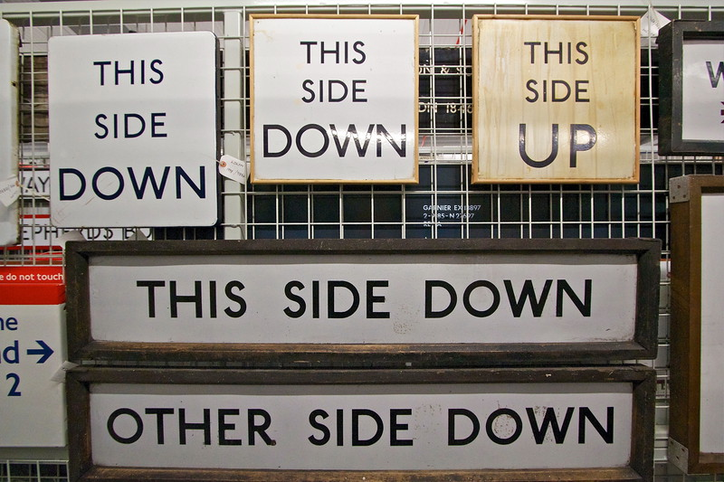 Both Sides Now. Old London Underground signs.