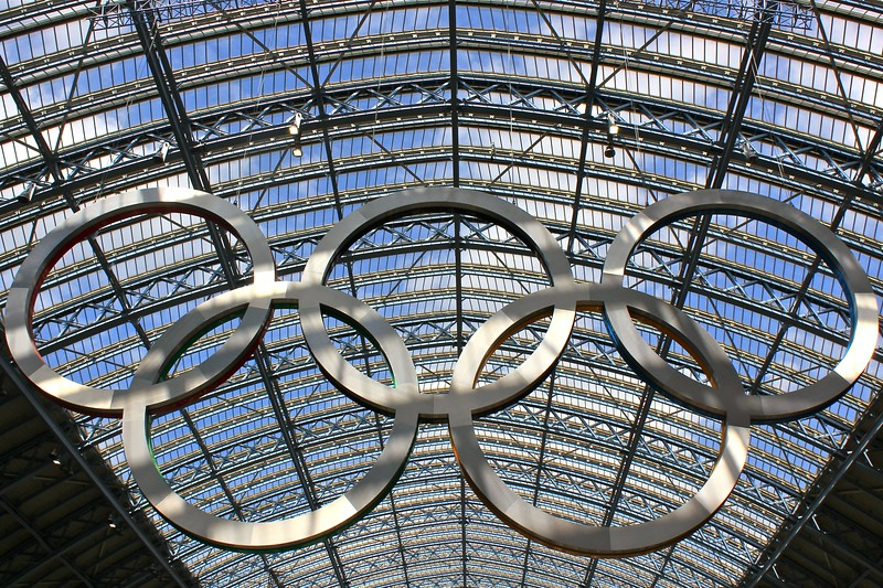 St Pancras Station Olympic 2012 Rings