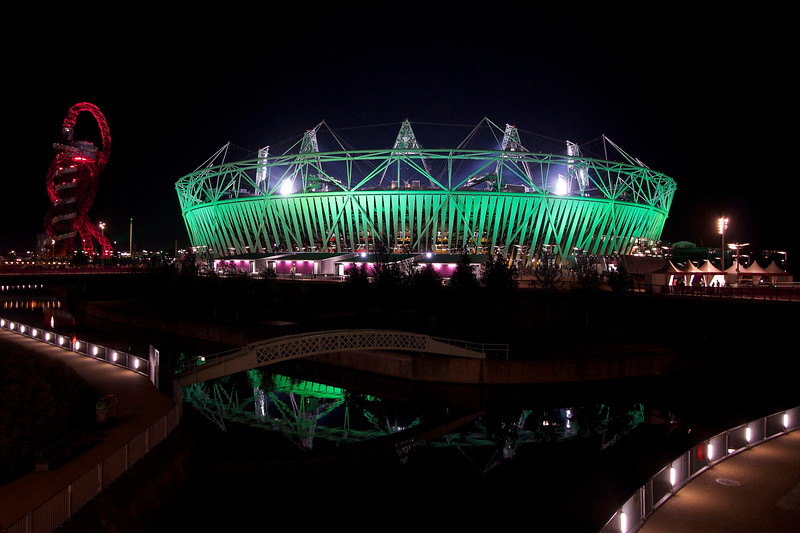 London 2012 Olympic Stadium By Night.