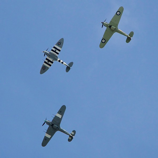 Spitfire Hurricanes VE70