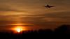 Heathrow Airport Sunset Landing March 2014.