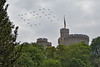 RAF Hawks in E II R formation over Windsor Castle during the Queen's Diamond Jubilee Flypast on May 19 2012.