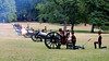 The King's Troop Royal Horse Artillery fire a 41-gun salute in London's Green Park at 2pm on Tuesday July 23 2013 after riding past Buckingham Palace. In celebration of the birth just under 24 hours earlier of a son to the Duke and Duchess of Cambridge. Six field guns fired the salute in ten second intervals.