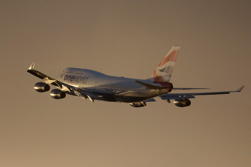 Heathrow Sunset take off 2014.