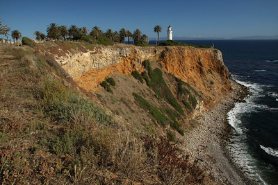 San Pedro coastline and lighthouse
