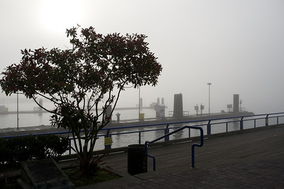 Lonsdale Quay in the fog