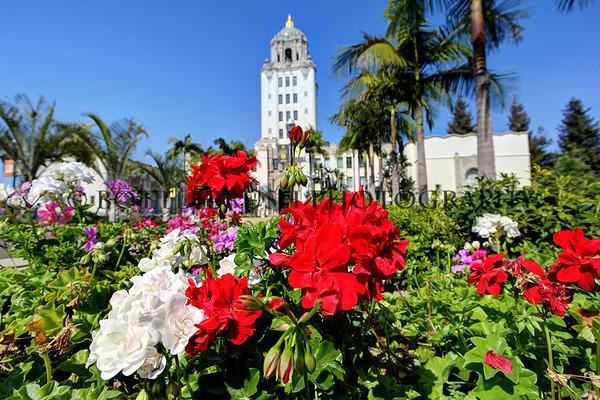 Beverly Hills City Hall, California.