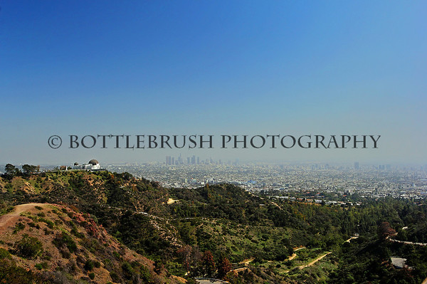 Griffith Observatory and downtown Los Angeles.